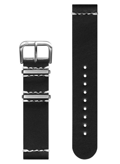 Vintage Cuir Noir 20 mm