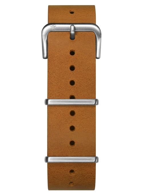 Nato Cuir Orange 22 mm