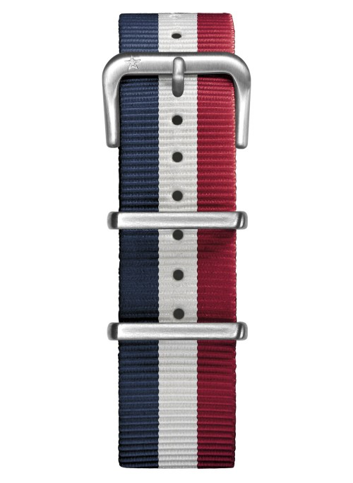 Nato Nylon Marine / Blanc / Rouge 20 mm