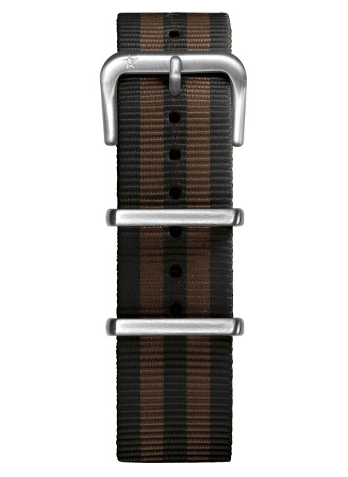 Nato Nylon Black / Brown 20 mm
