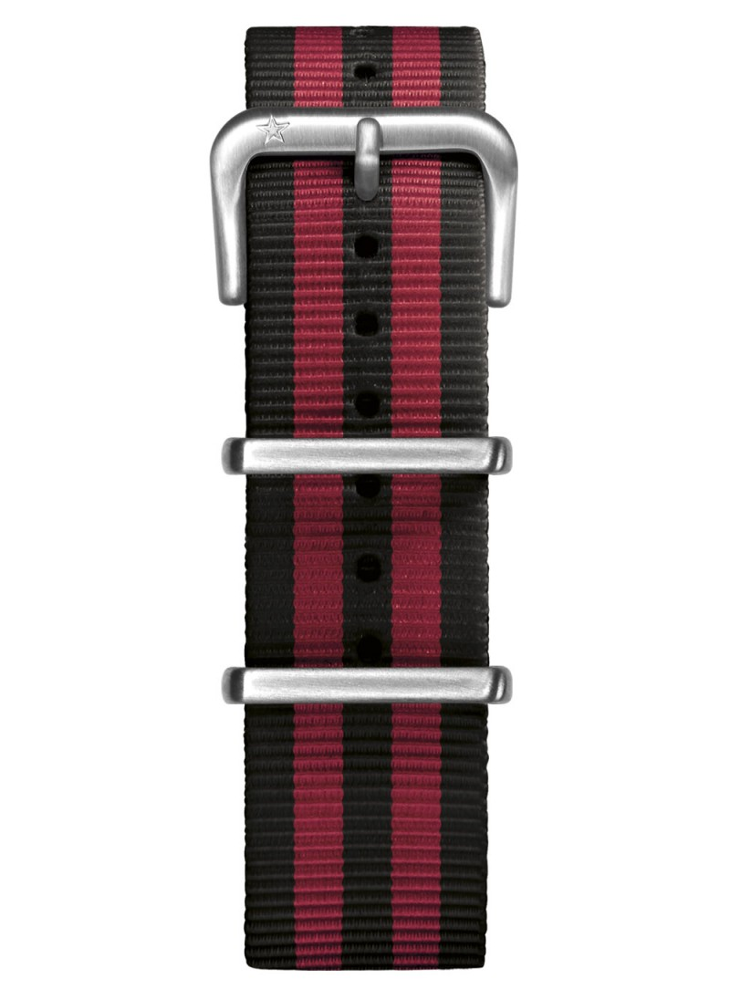 Nato Nylon Black / Red 20 mm