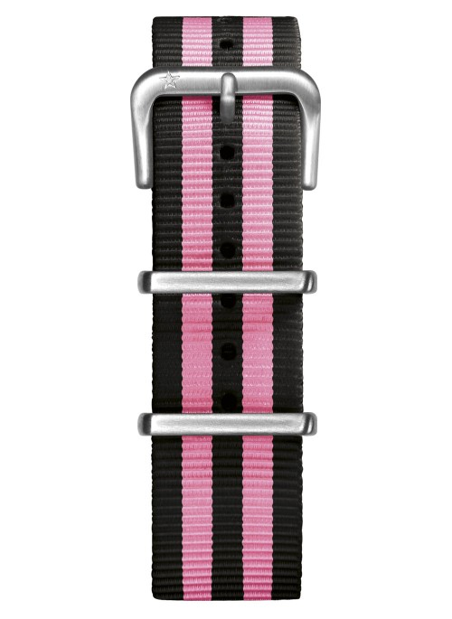 Nato Nylon Noir / Rose 20 mm
