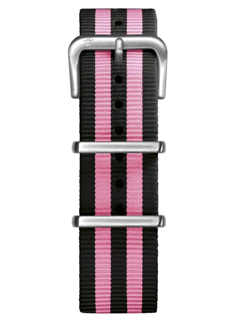 Nato Nylon Black / Pink 20 mm