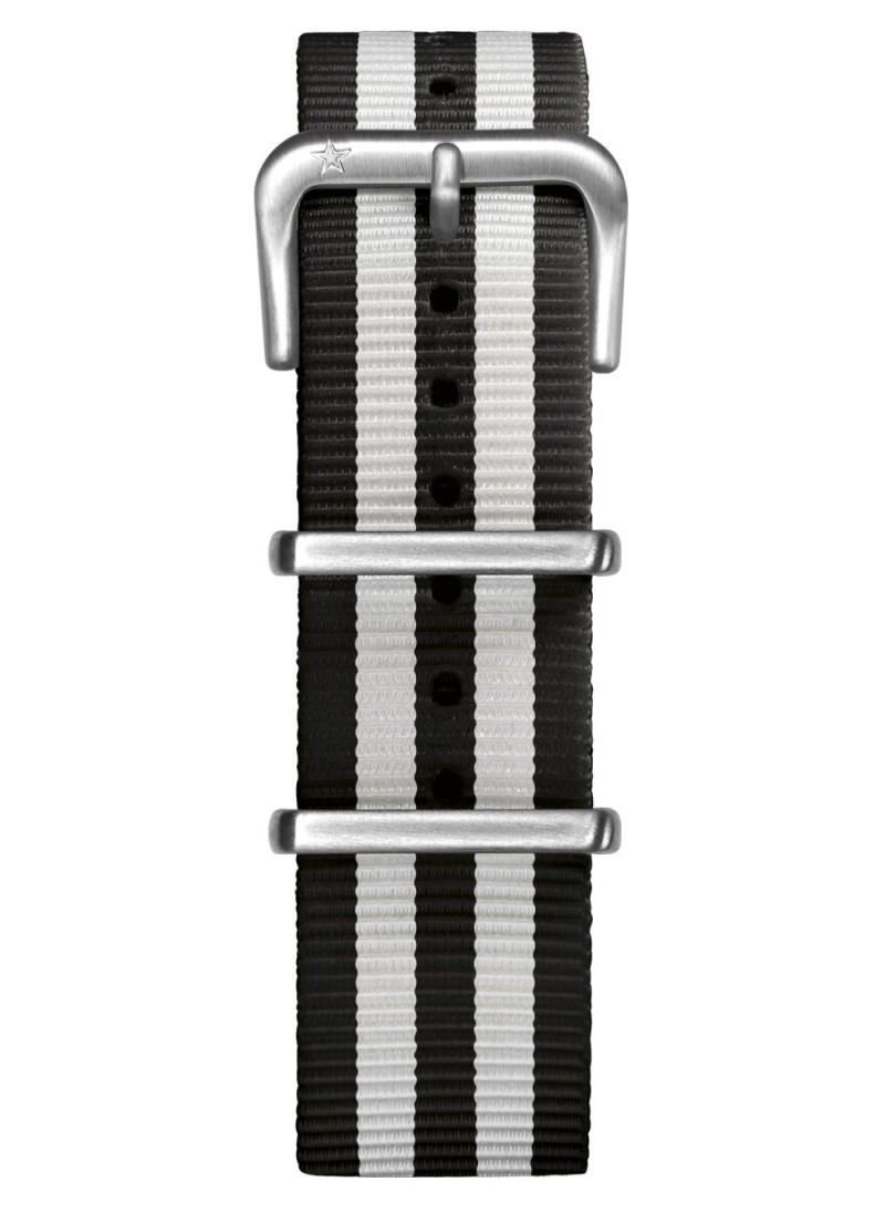Nato Nylon Noir / Blanc 20 mm