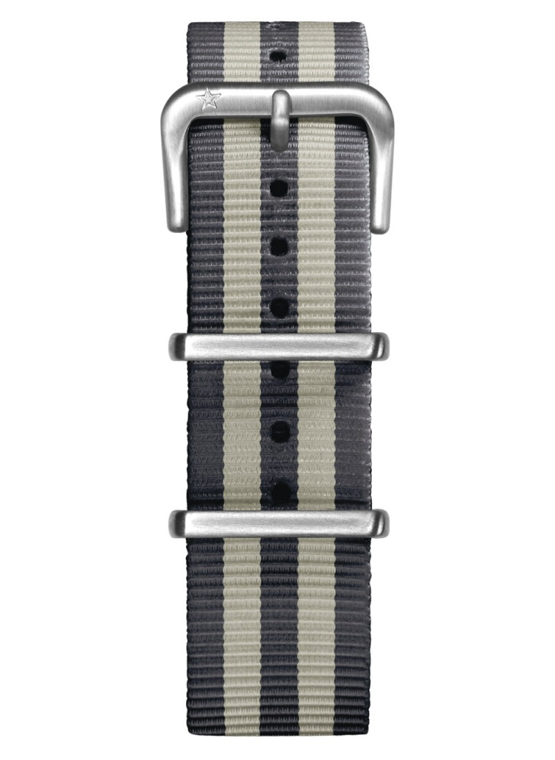 Nato Nylon Anthracite / Ivoire 20 mm