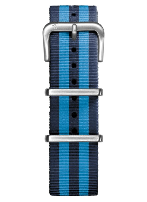 Nato Nylon Marine / Turquoise 20 mm