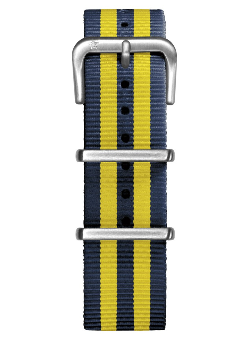 Nato Nylon Navy / Yellow 20 mm