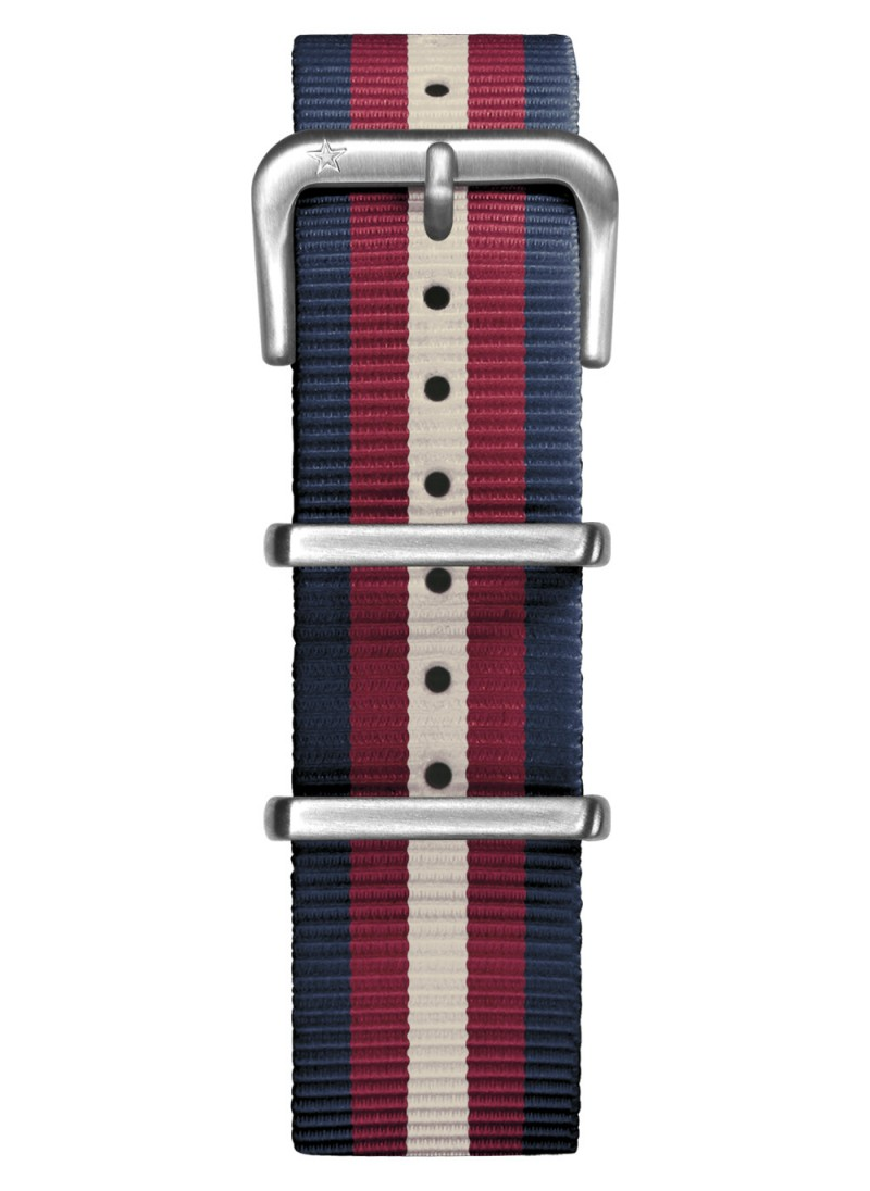 Nato Nylon Navy/ Red / Ivory 20 mm