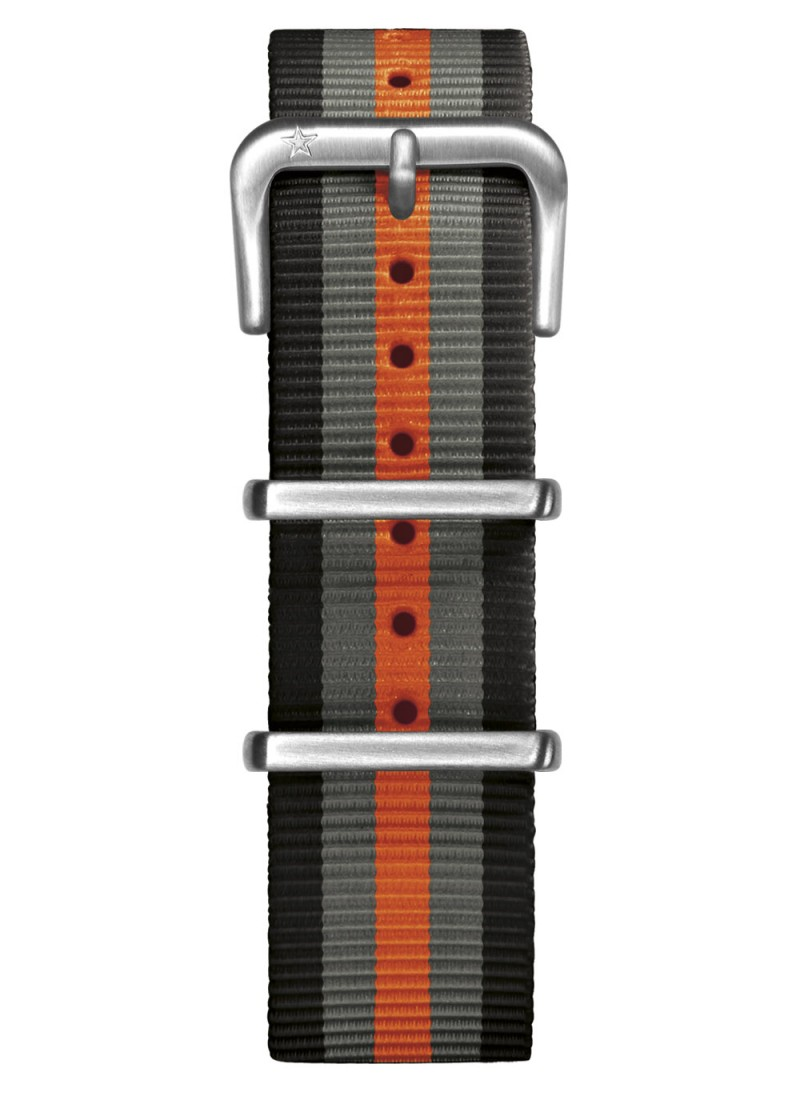 Nato Nylon Black / Grey / Orange 20 mm