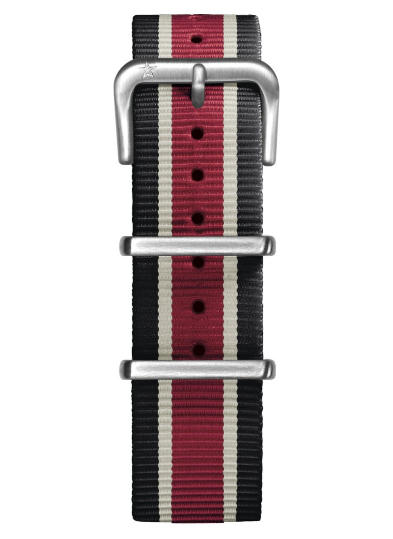 Nato Nylon Black / Ivory / Red 20 mm