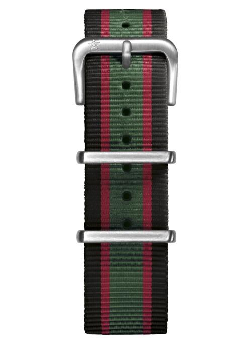 Nato Nylon Black / Green / Red 20 mm