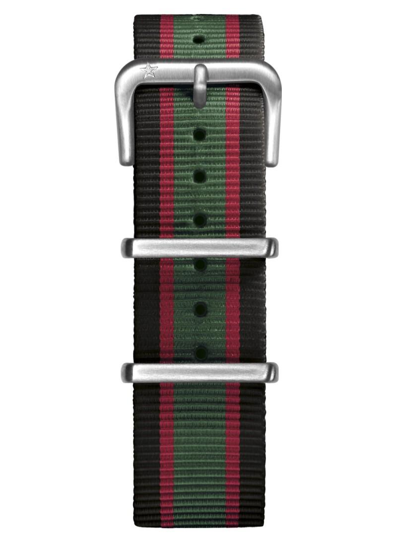 Nato Nylon Noir / Vert / Rouge 20 mm