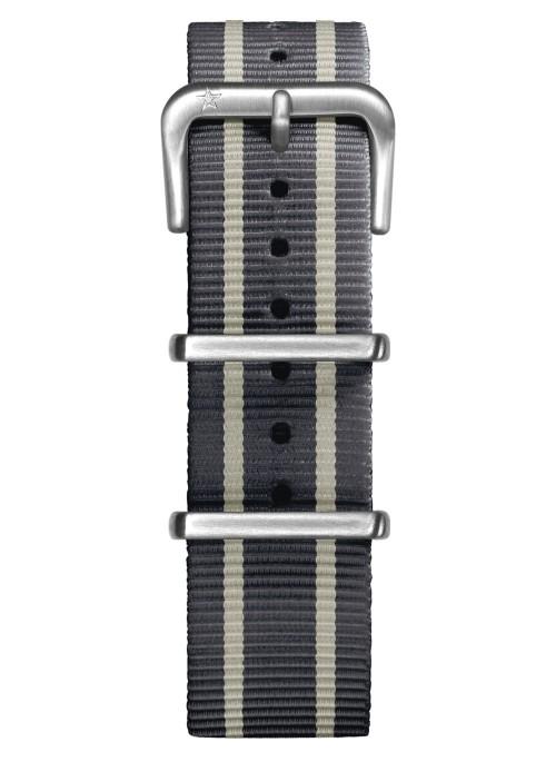 Nato Nylon Gris / Ivoire / Gris 20 mm