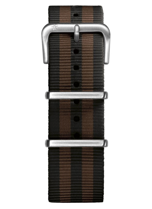 Nato Nylon Black / Brown 22 mm
