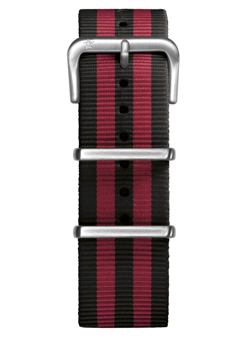 Nato Nylon Black / Red 22 mm