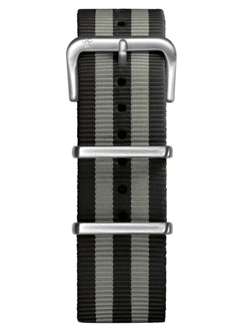 Nato Nylon Noir / Gris 22 mm