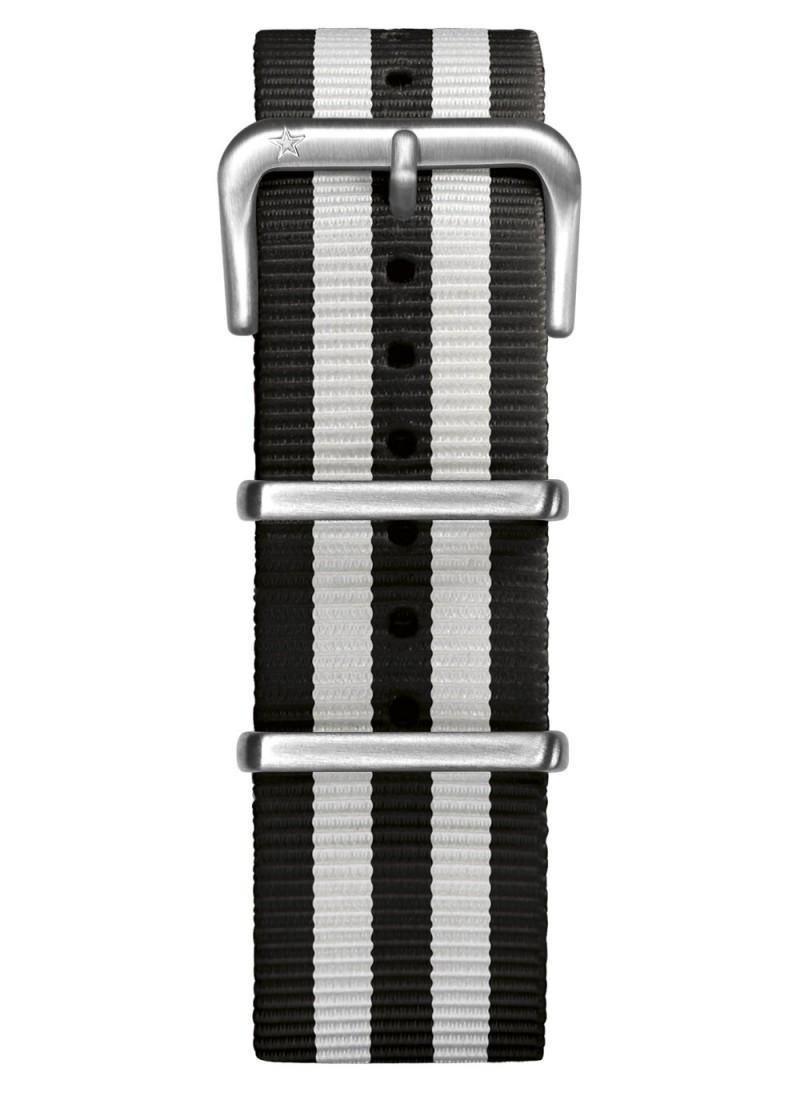 Nato Nylon Noir / Blanc 22 mm