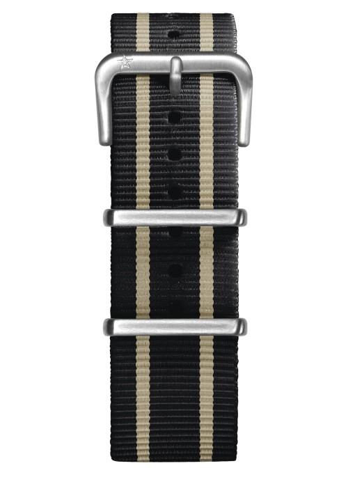 Nato Nylon Marine / Ivoire / Marine 22 mm