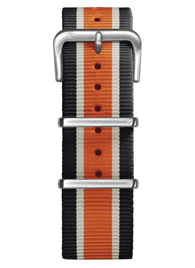 Nato Nylon Black / Ivory / Orange 22 mm