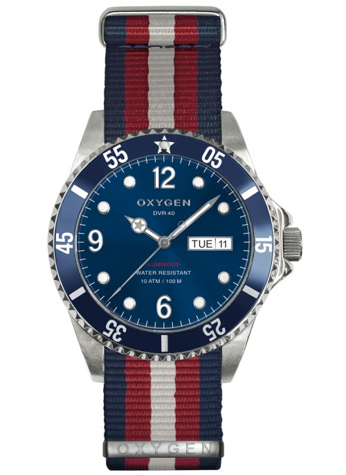 Diver 40 Atlantic Navy Red ivory Strap