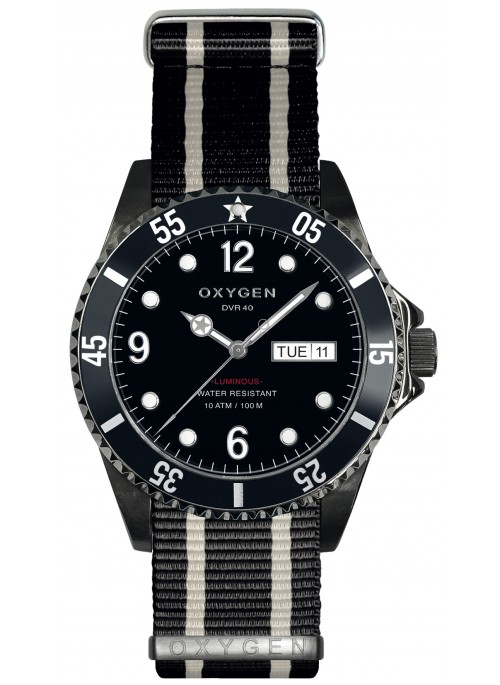Diver 40 Moby Dick Bracelet Noir Ivoire Noir