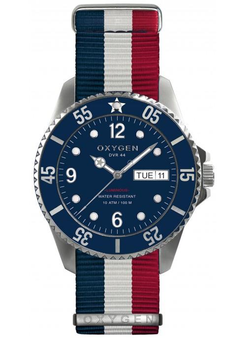 Diver 44 Admiral Bracelet Marine Blanc Rouge