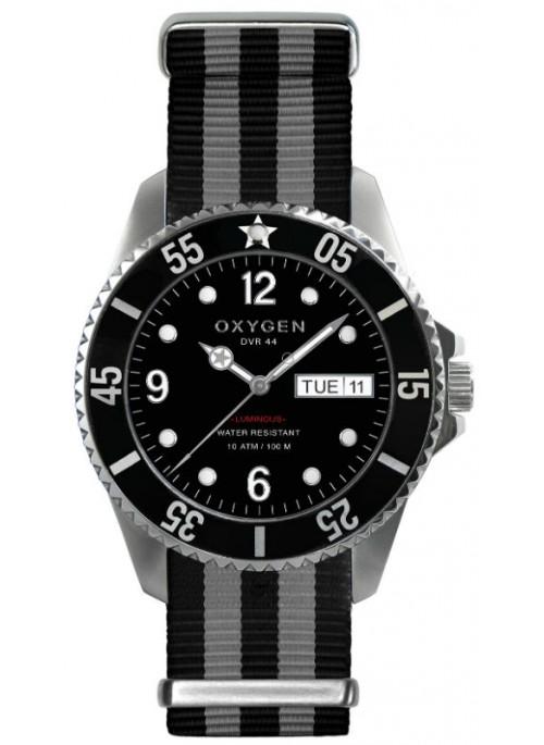 Diver 44 Moby Dick Black Grey Black Strap