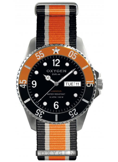 Diver 44 Snooker Black Ivory Orange Strap