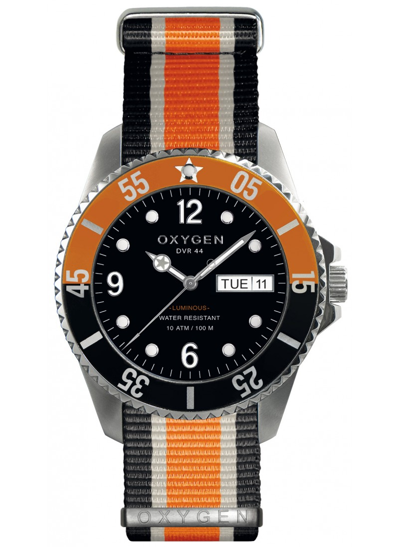 Diver 44 Snooker Bracelet Noir Ivoire Orange