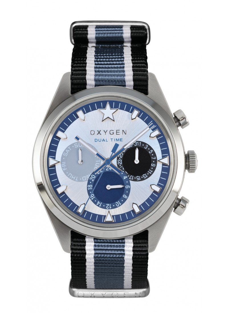 Dual Time 40 Pacific Black Ivory Jean Strap