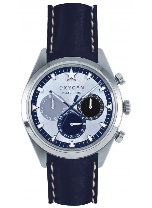 Dual Time 40 Pacific Navy Strap