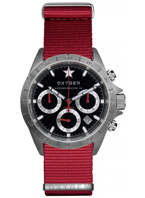 Chrono Sprint 42 Bracelet Rouge