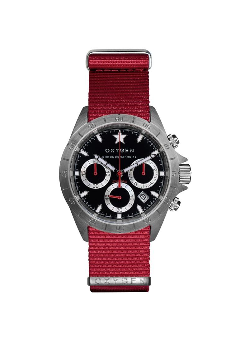 Chrono Sprint 42 Bracelet Rouge