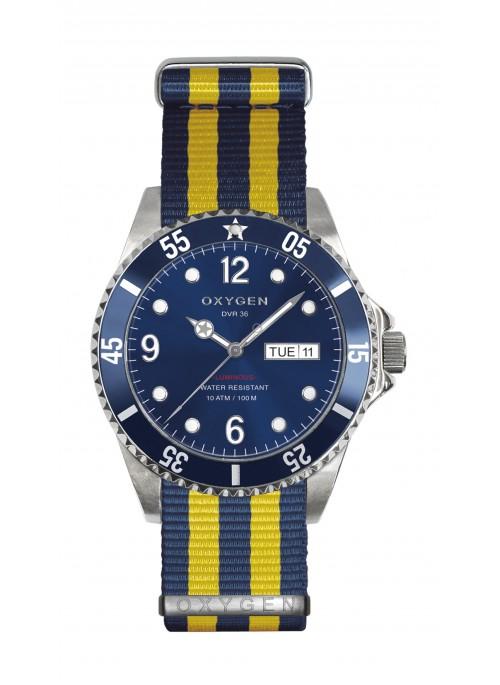 Diver 36 Atlantic Navy Yellow Strap