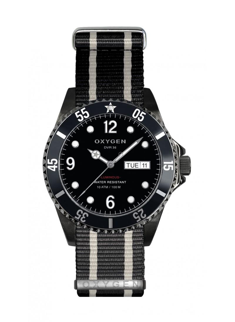 Diver 36 Moby Dick Bracelet Noir Ivoire Noir