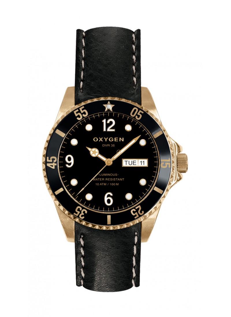Diver 36 Gold Mine Black Strap