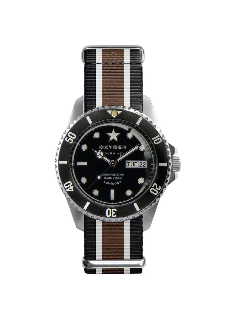 Diver Vintage 42 Cigar Black Ivory Brown Strap