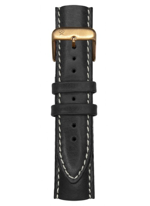 Classic Leather Black pink Gold Buckle 20 mm