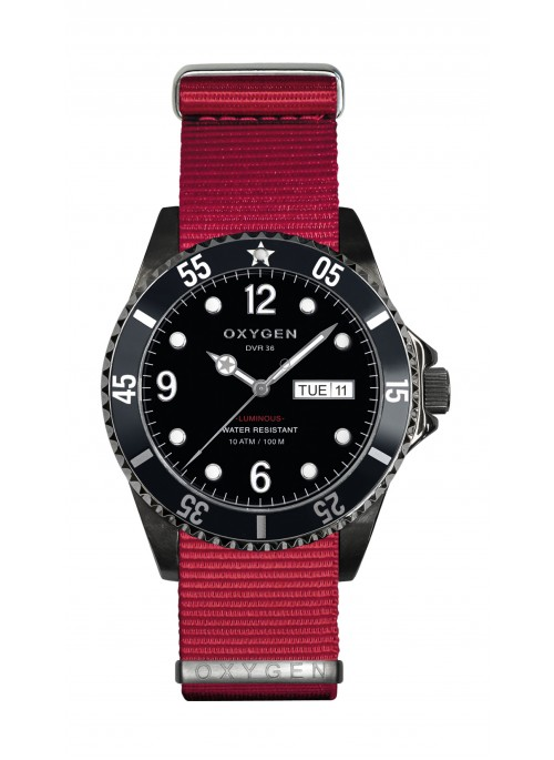 Diver 36 Moby Dick Red Strap