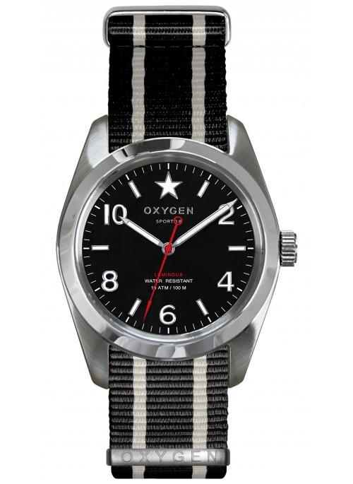 Sport 38 Washington Black Ivory Black Strap