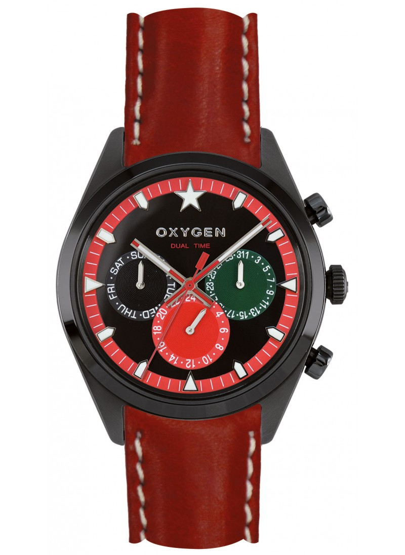 Dual Time 40 Roma Red Strap