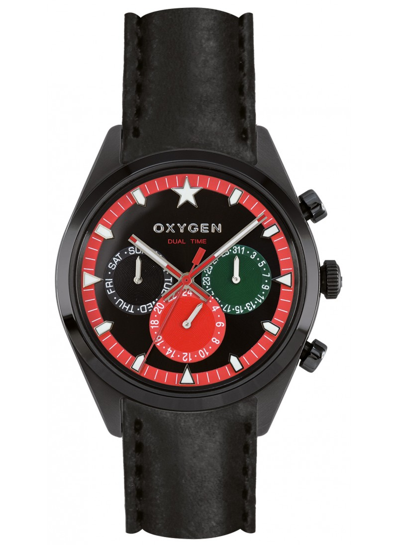 Dual Time 40 Roma Bracelet Noir