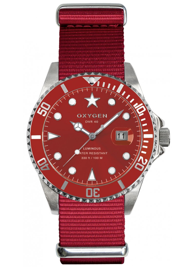 Diver 40 Shangai Red Strap